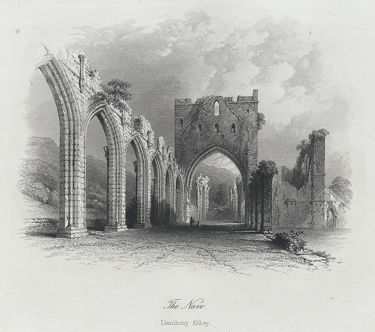 The nave, Llanthony Abbey