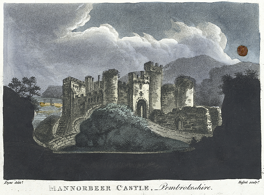 Mannorbeer Castle, Pembrokeshire