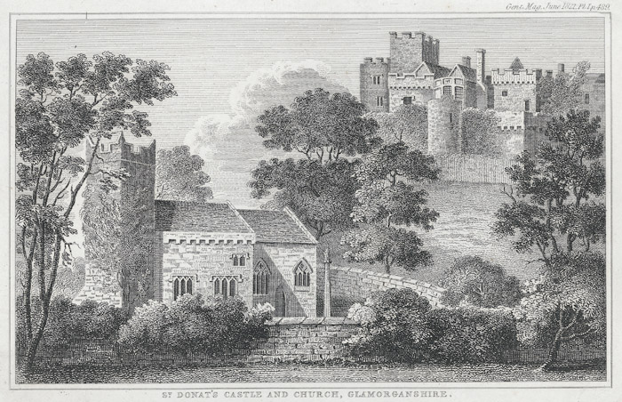 St. Donat's castle and church, Glamorganshire