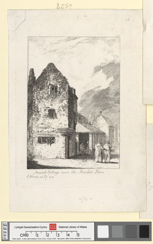 Ancient cottage near the market place 10 Aprl 1812