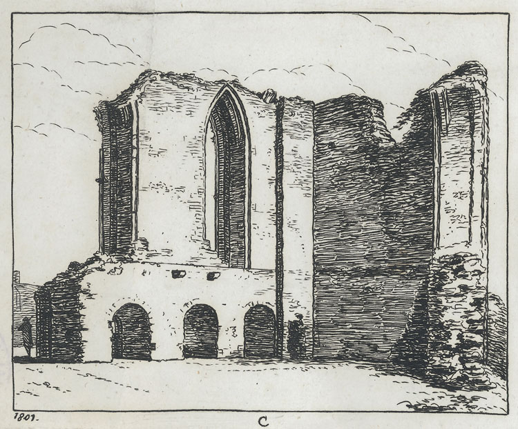 [Monmouth Castle - architectural details]