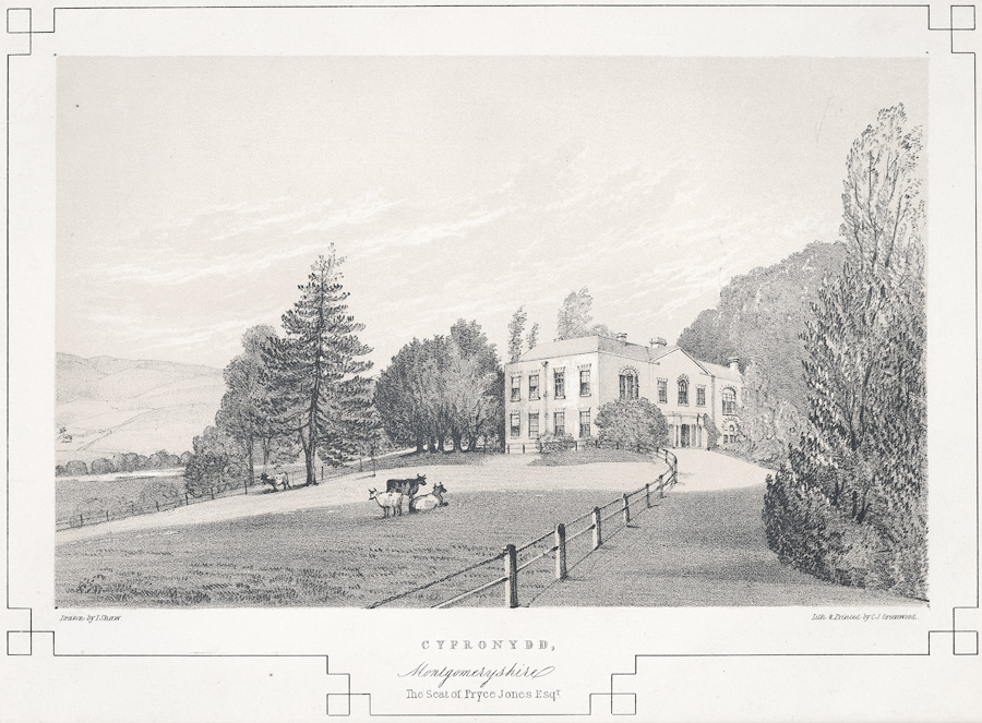 Cyfronydd, Montgomeryshire. The Seat of Pryce Jones Esqr