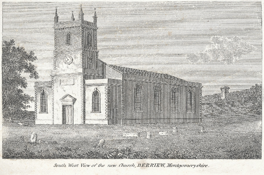 South West View of the new Church, Berriew, Montgomeryshire