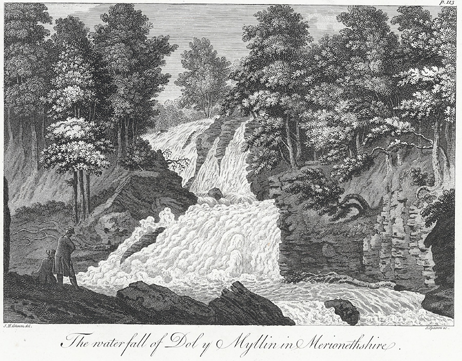 The waterfall of Dol y Myllin in Merionethshire