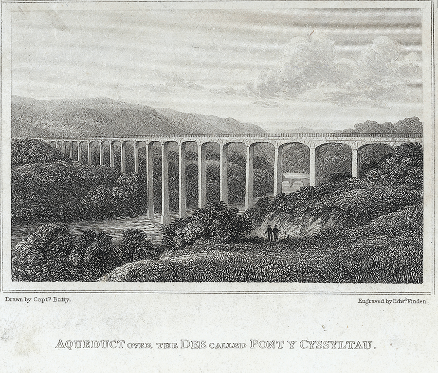 Aqueduct over the Dee called Pont y Cyssyltau