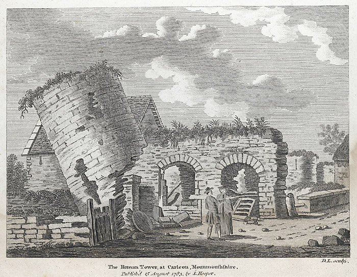 The Roman tower at Caerleon, Monmouthshire