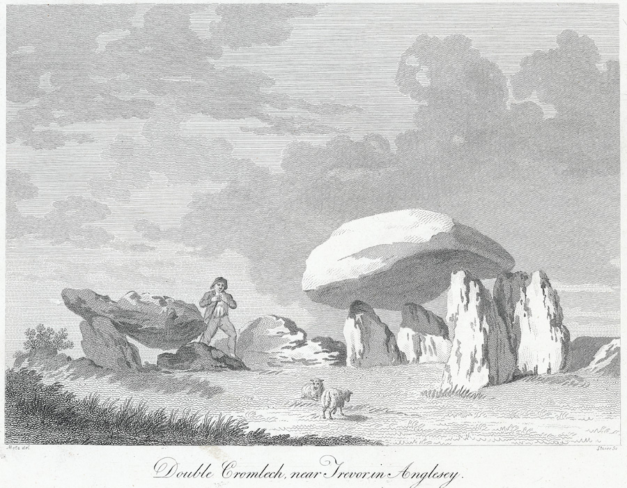 Double cromlech, near Trevor [i.e Trefor] in Anglesey
