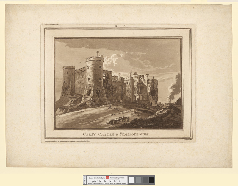 Carew castle in Pembrokeshire Sepr 1st 1775