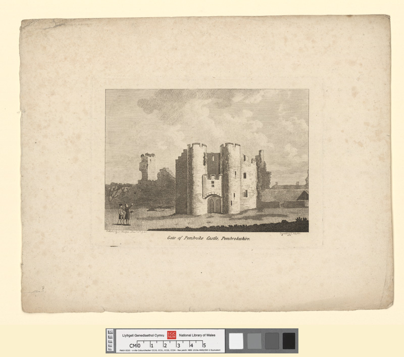 Gate of Pembroke castle, Pembrokeshire Decr 6th 1785