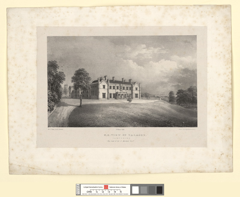 N.E. view of Talacre, Flintshire. The seat of Sir E. Mostyn, Bart