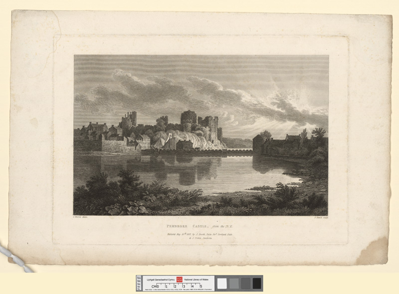 Pembroke Castle, from the N.E. May 10th 1817