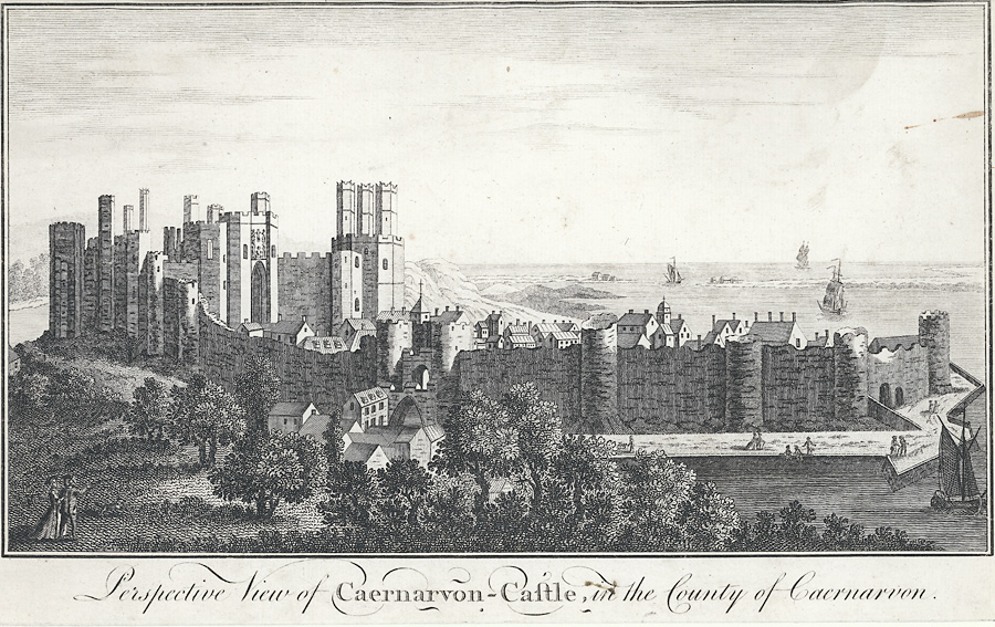 Perspective view of Caernarvon Castle
