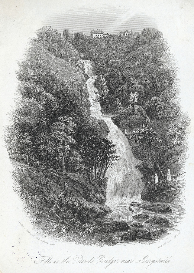 Falls at the Devil's Bridge, near Aberystwith
