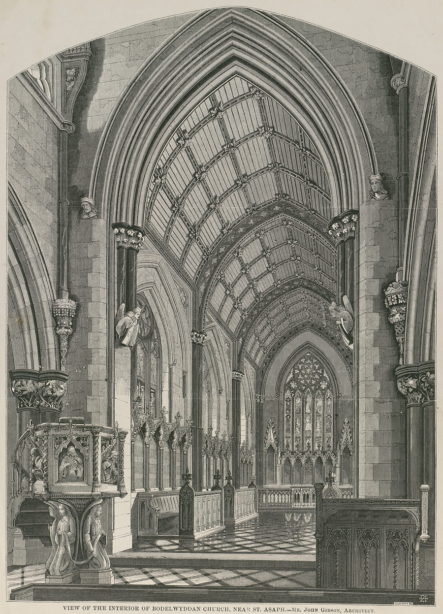 View of the interior of Bodelwyddan Church, near St. Asaph