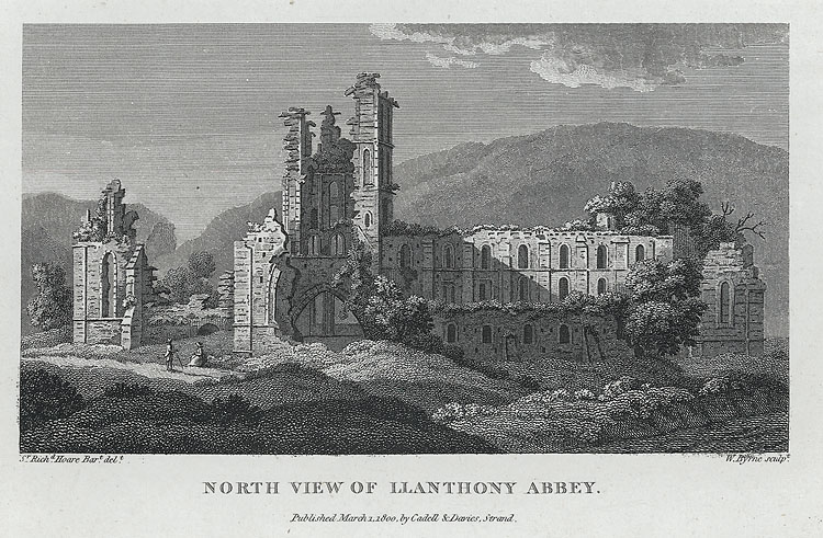 The North West View Of Lantony Abby, In The County Of Monmouth