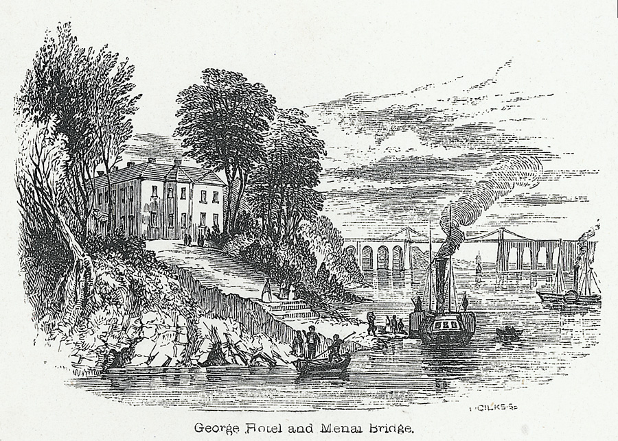 George Hotel and Menai bridge