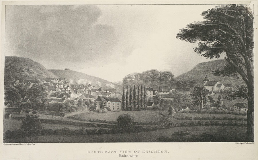 South east view of Knighton, Radnorshire