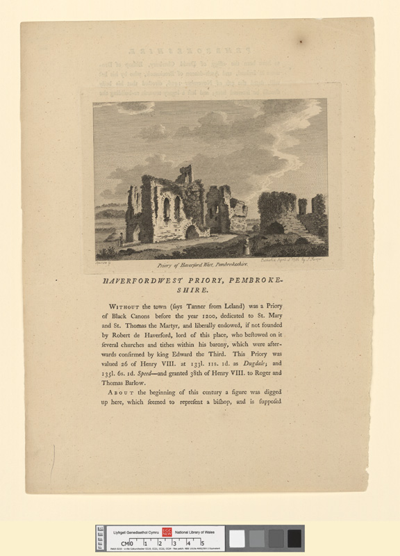 Priory of Haverfordwest, Pembrokeshire April 5th 1786