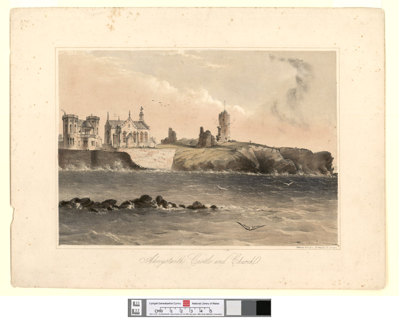 Aberystwith castle and church