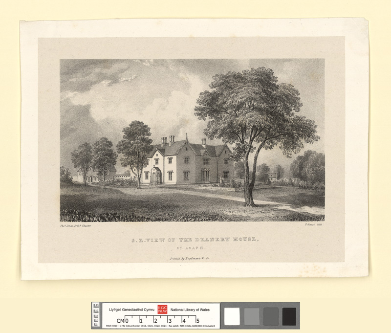 N.e. view of the Deanery House, St. Asaph
