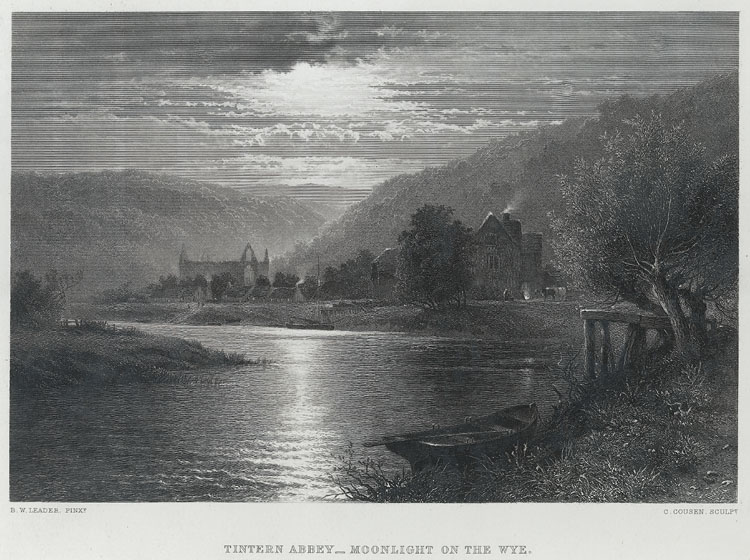 Tintern Abbey, Moonlight on the Wye