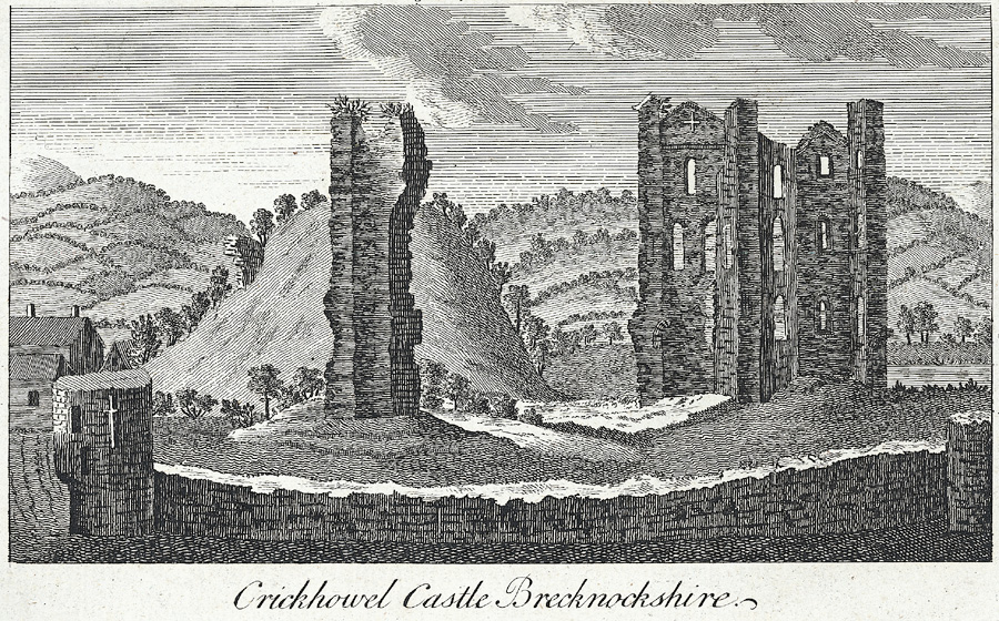 Crickhowel Castle Brecknockshire