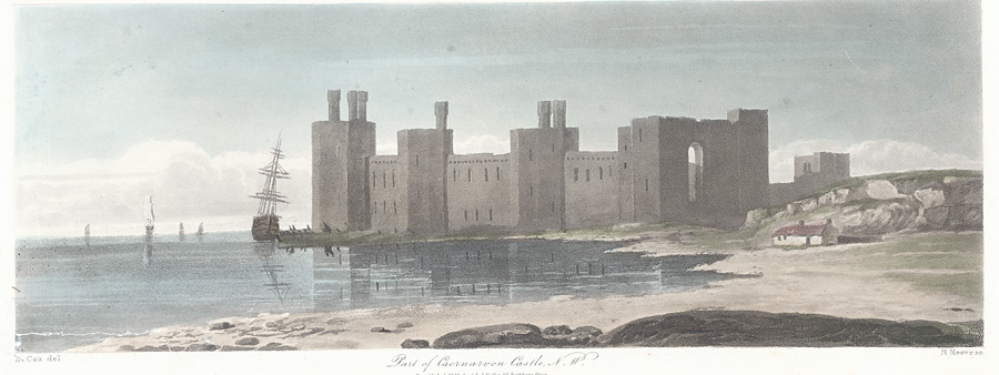Part of Caernarvon Castle, N. W