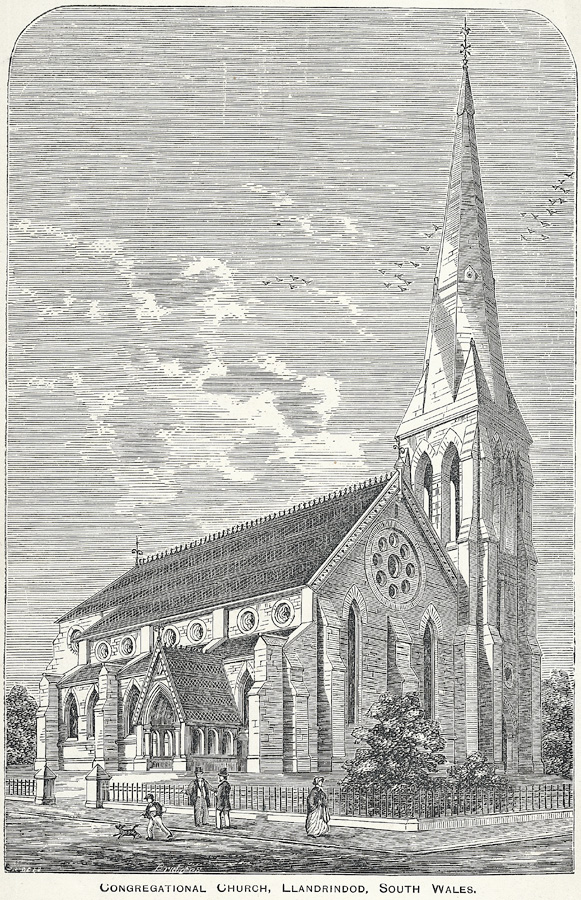 Congregational church, Llandrindod, south Wales