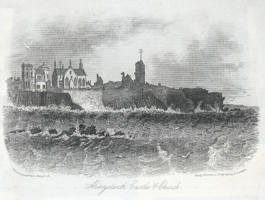 Aberystwith castle & church