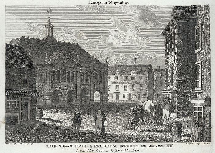 The town hall & Principal street in Monmouth, from the Crown & Thistle inn