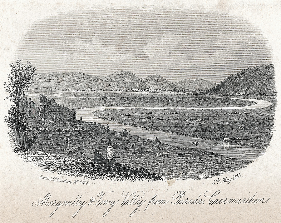 Abergwilly & Towy Valley from Parade, Caermarthen