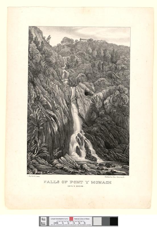 Falls of Pont y Monach {sic]