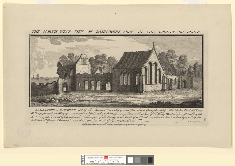The North West View Of Basingwerk Abby, In The County Of Flint