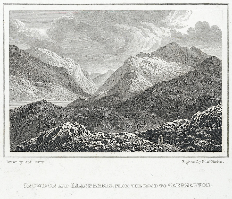 Snowdon And Llanberris, From The Road To Caernarvon