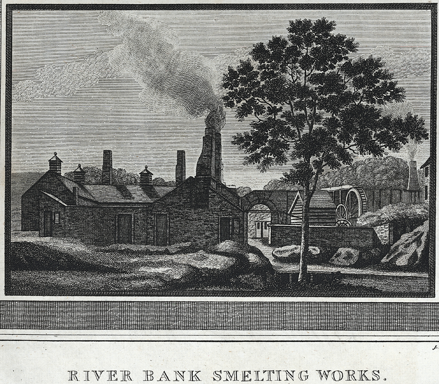 History of Holywell Parish, River bank smelting works