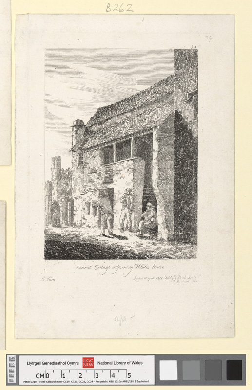Ancient cottage adjoining White's house 10 Aprl 1812