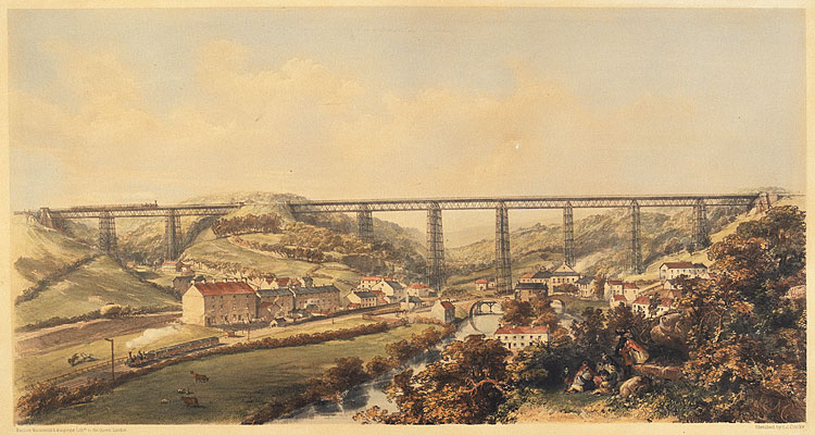 Crumlin Viaduct, on the Taff Vale Extension of the West Midland Railway