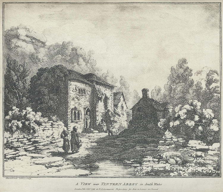 A View near Tintern Abbey in South Wales