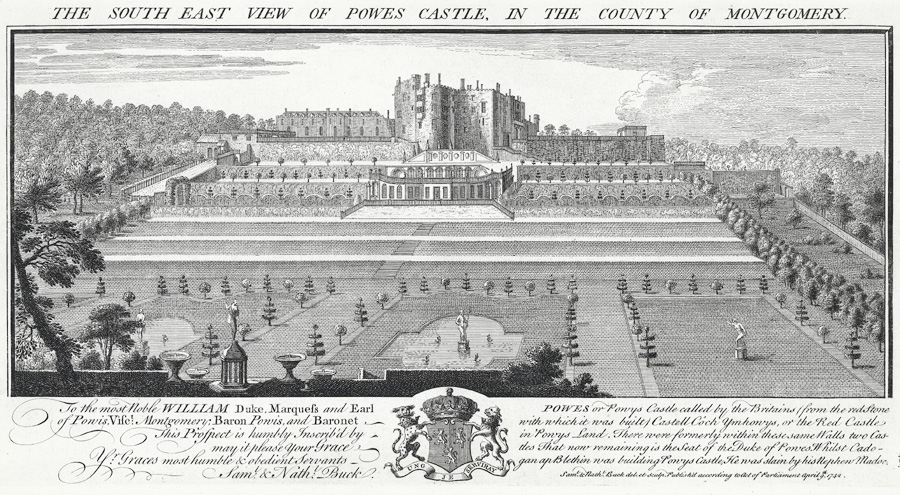 The South East View Of Powes Castle, in the county of Montgomery