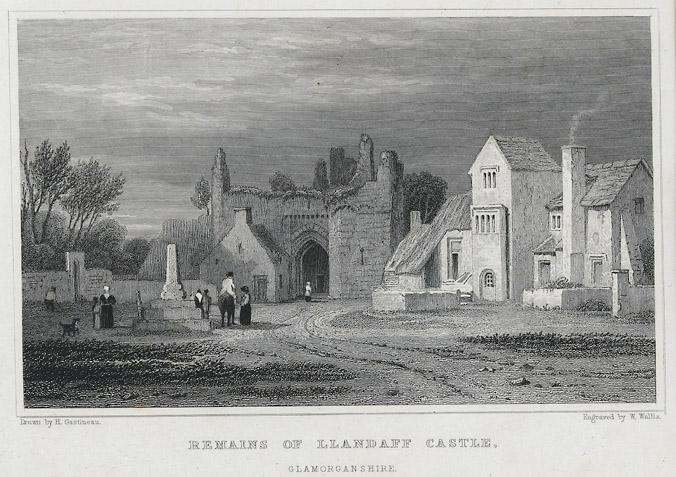Remains of Llandaff castle, Glamorgan