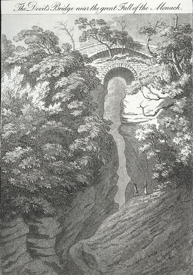 The Devil's Bridge near the great Fall of the Monach
