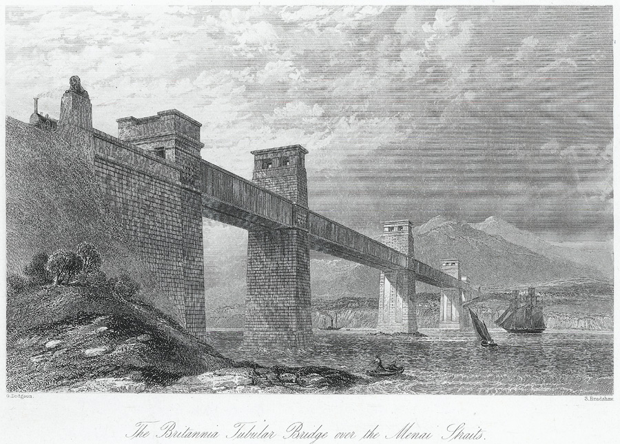 The Britannia tubular Bridge over the Menai Straits