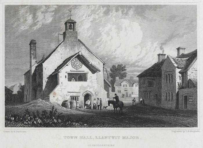 Town hall, Llantwit Major, Glamorganshire