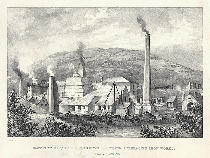 East view of the Yniscedwyn crane anthracite iron works, near Swansea