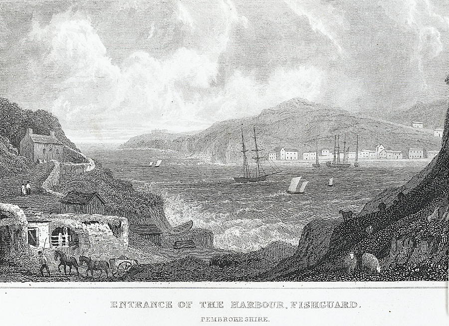 Entrance of the Harbour, Fishguard, Pembrokeshire