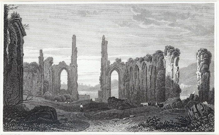 Remains of the abbey church, Neath, Glamorganshire