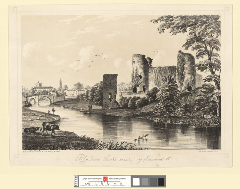 Rhuddlan Castle, erected by Edward 1st