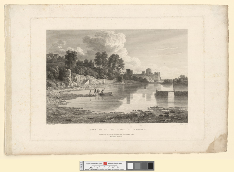 Town walls and castle of Pembroke May 10th 1817