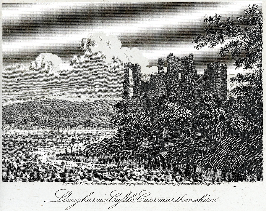 Llaugharne Castle, Caermarthenshire