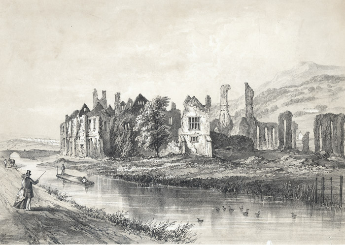 Neath abbey from the canal bank